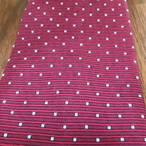 Red silk tie from Stafford